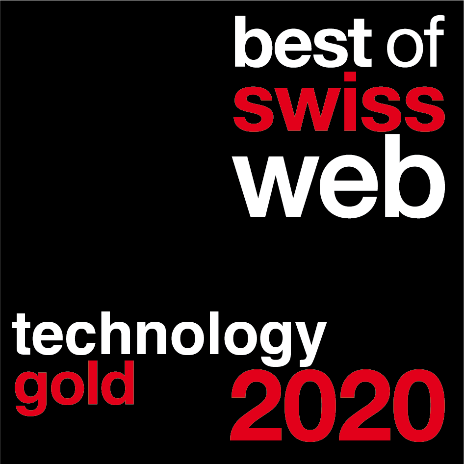Best of Swiss Web 2020 Technology Gold