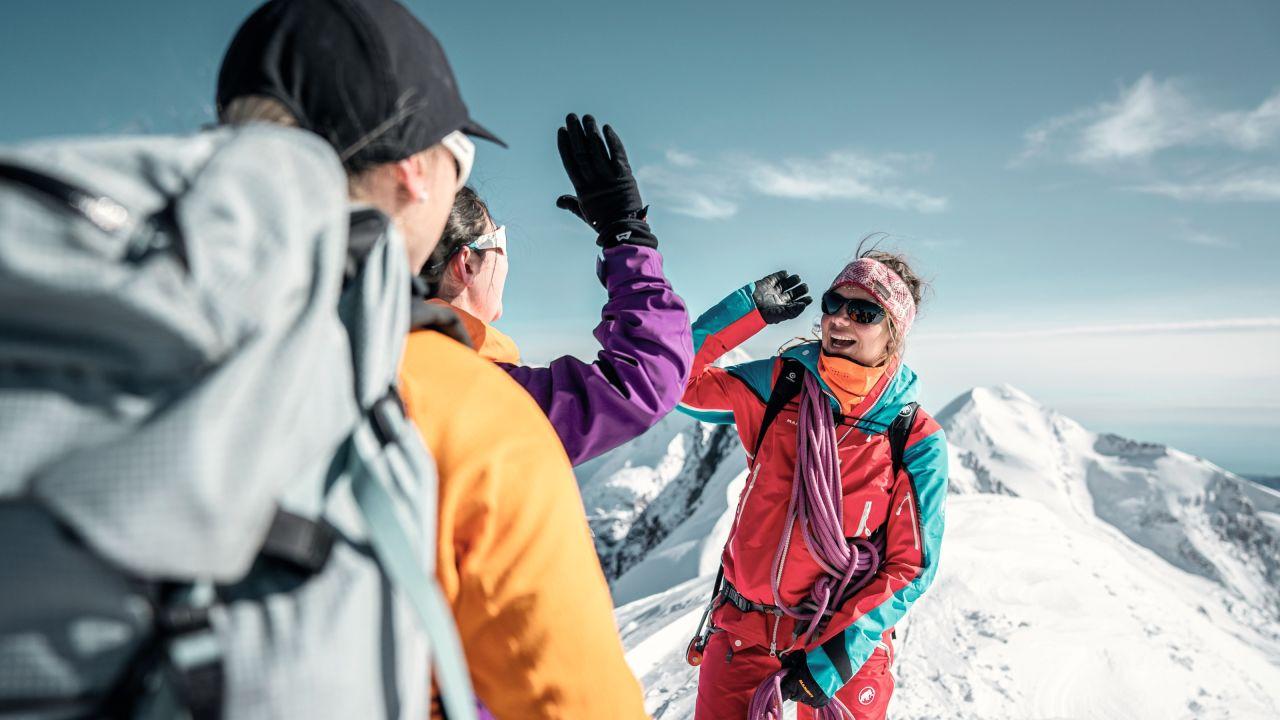 Wallis, Sommer, Berg, Schnee, Gipfel, Frau, Gruppe, Bergsteigen/Hochtouren