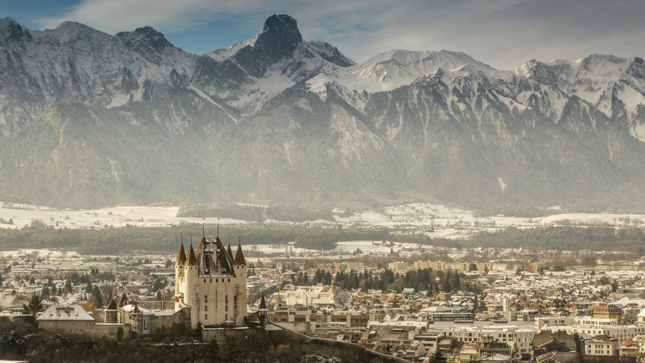 Bern, winter, snow, town/city, castle