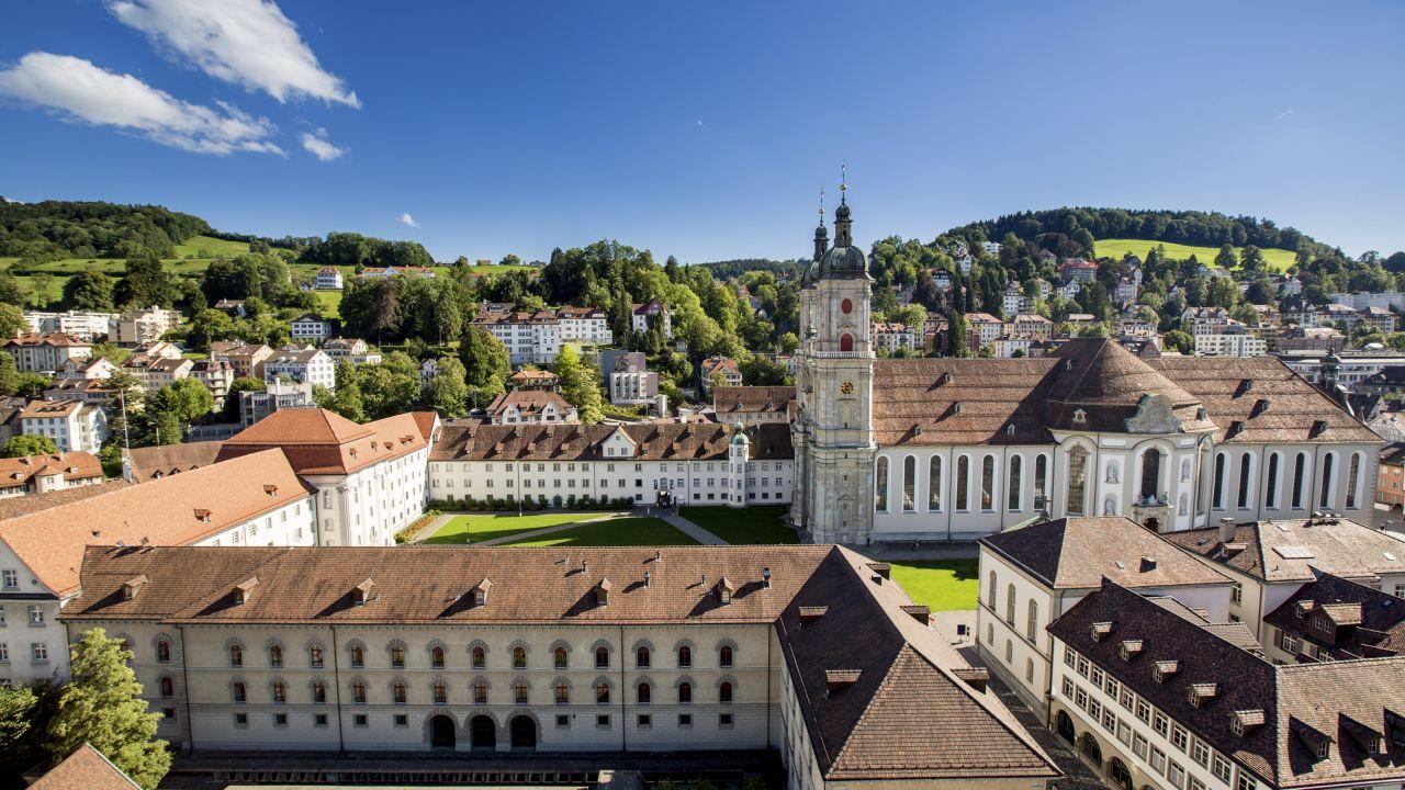 Eastern Switzerland / Liechtenstein, monument, town/city, Aerial/Drohne, church/chapel